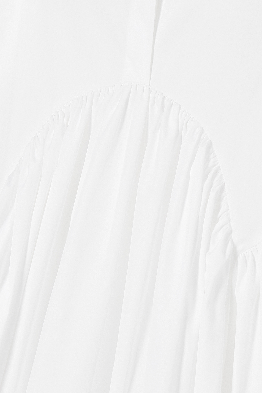 Cecilie Bahnsen Margo Hemdblusenkleid aus Baumwollpopeline mit Raffungen