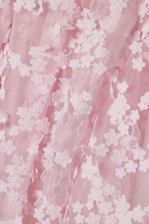 Baby Pink Tira Appliquéd Organza Dress | Cecilie Bahnsen
