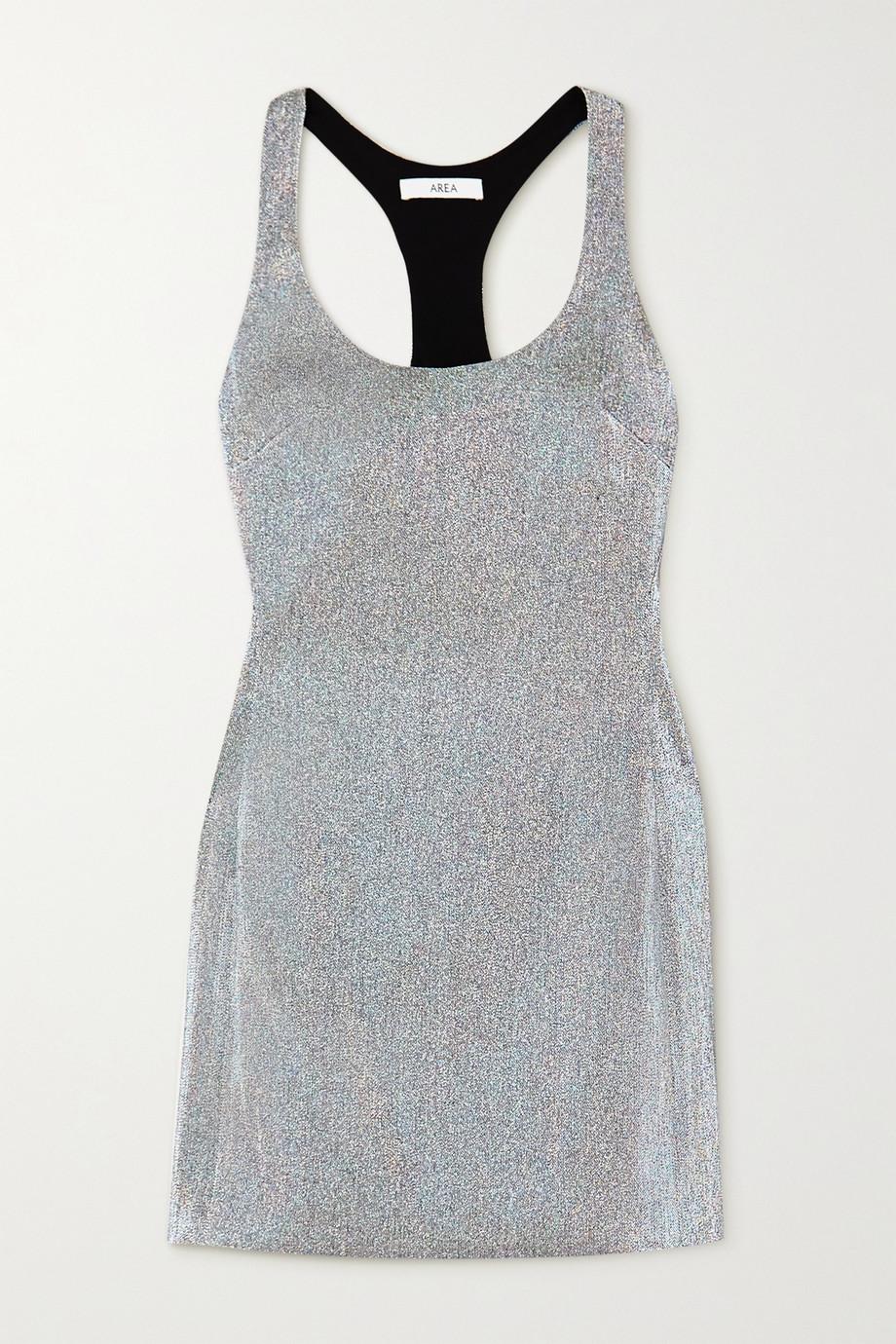 AREA Lamé mini dress