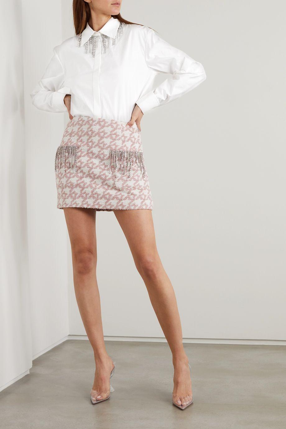 AREA Hemd aus Popeline aus einer Baumwollmischung mit Kristallen