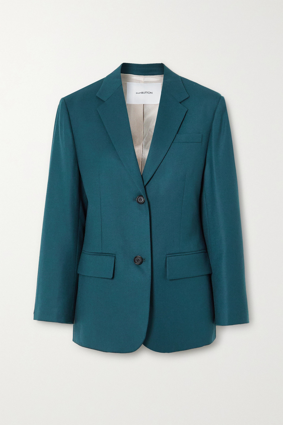 Pushbutton Wool-crepe blazer