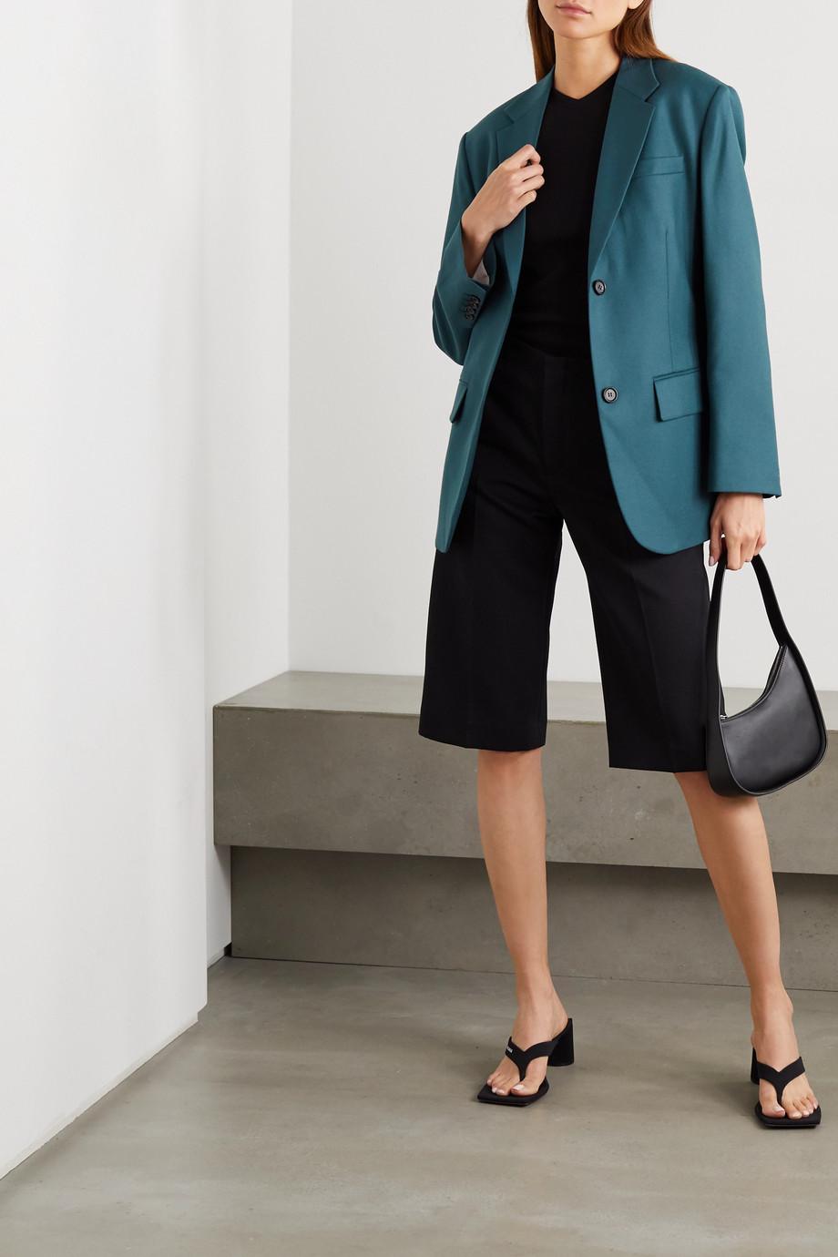 Pushbutton 羊毛绉纱西装外套