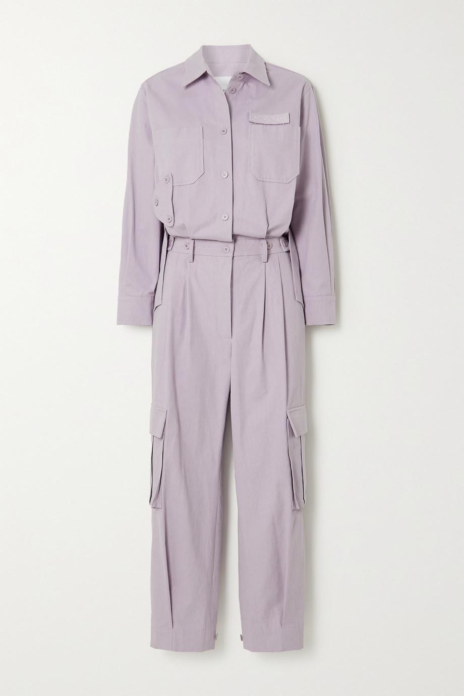 Pushbutton Cotton jumpsuit
