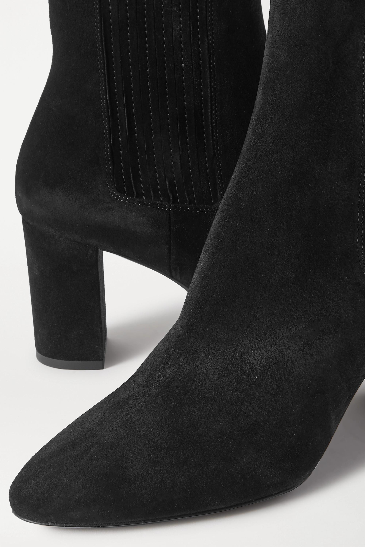 SAINT LAURENT Mica suede ankle boots