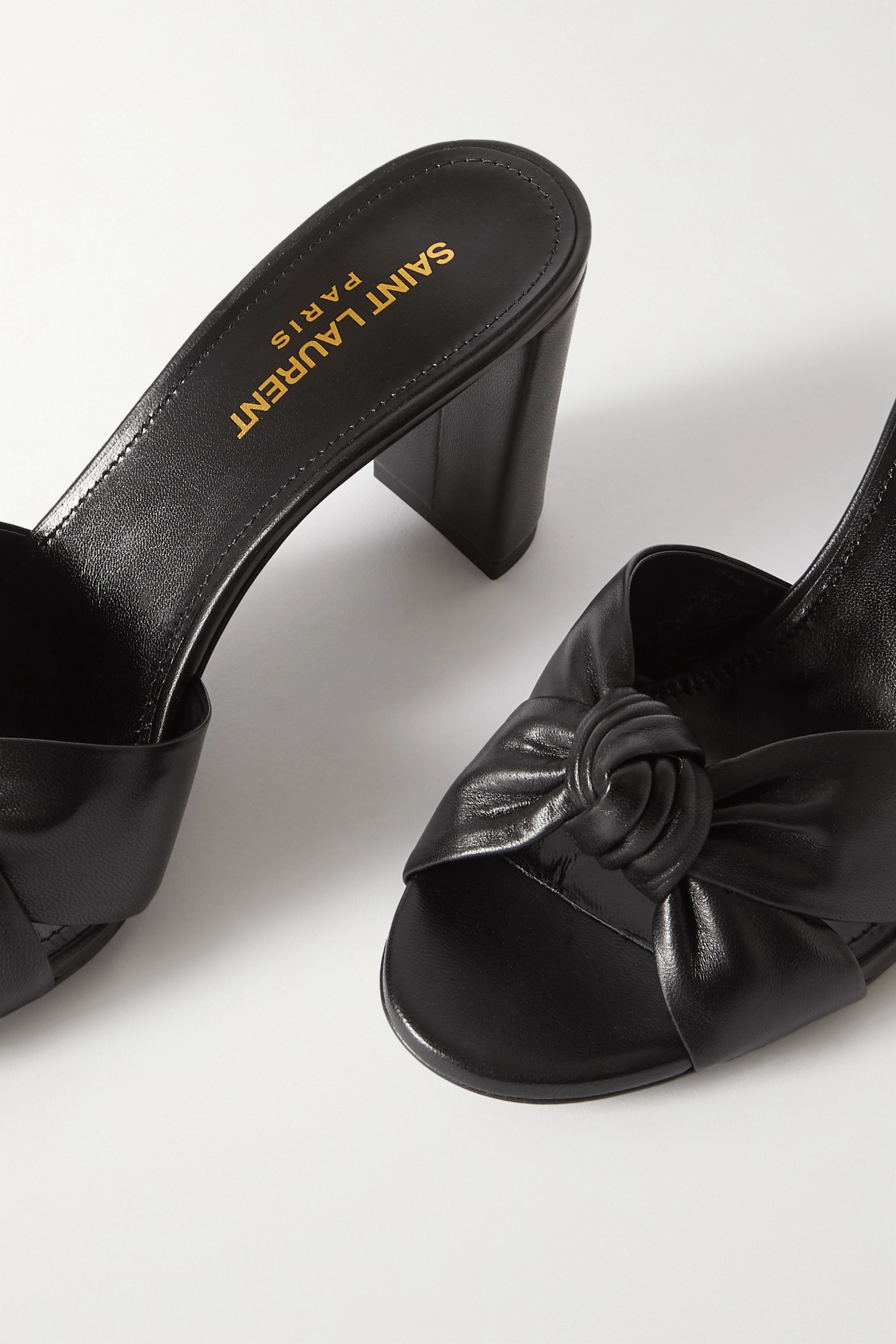 SAINT LAURENT Bianca knotted leather mules