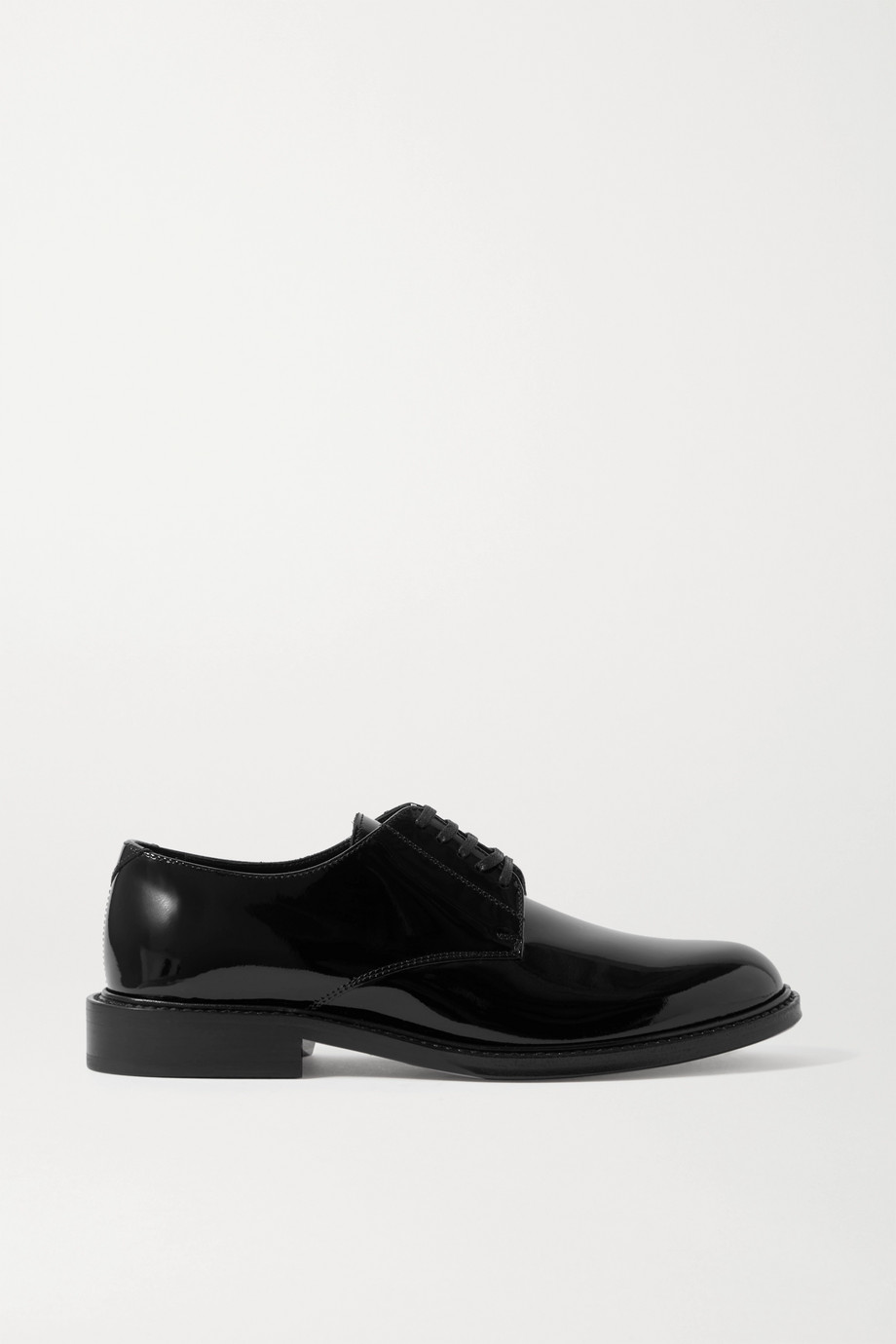 SAINT LAURENT Cromel patent-leather brogues