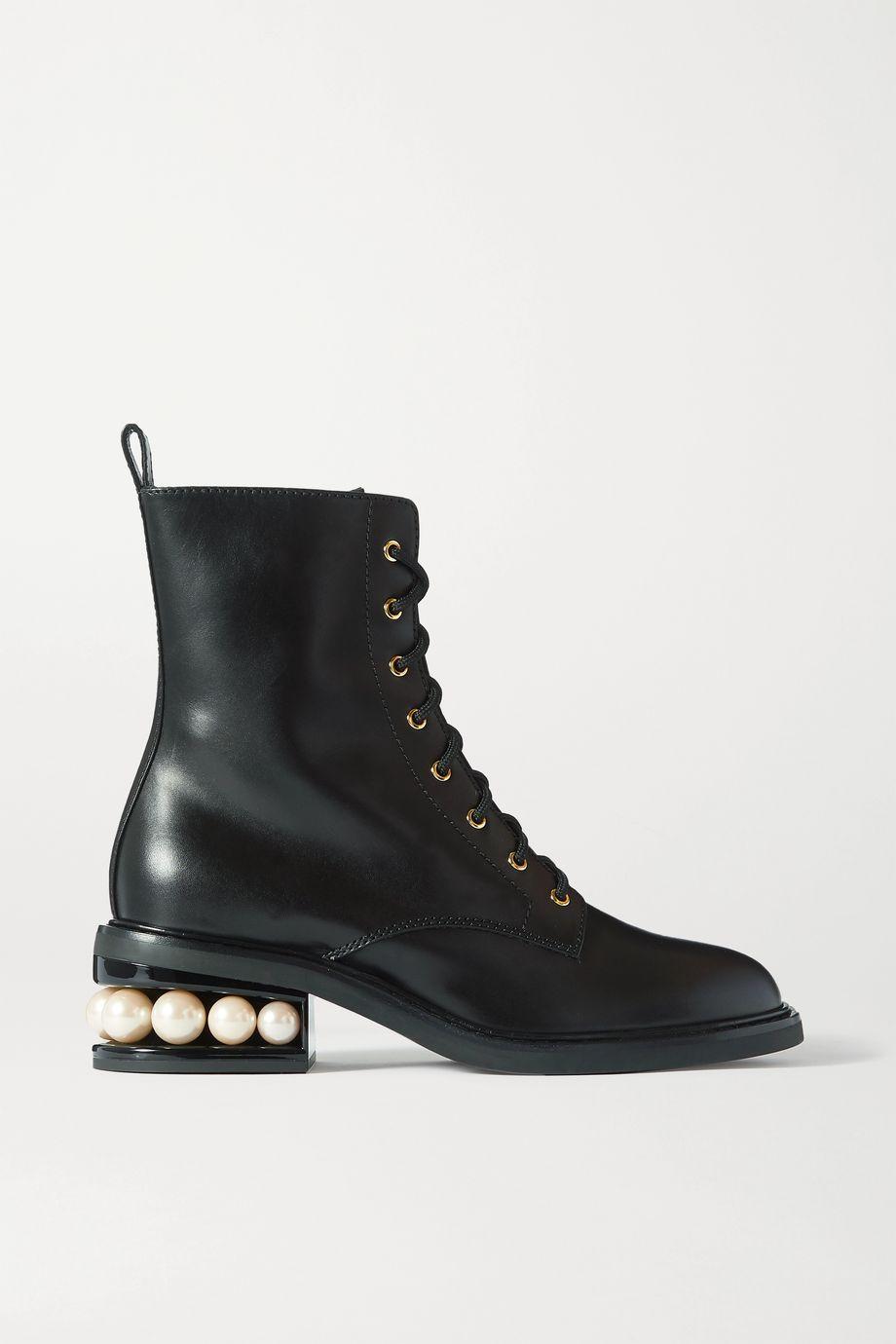 Nicholas Kirkwood Casati 带缀饰皮革踝靴