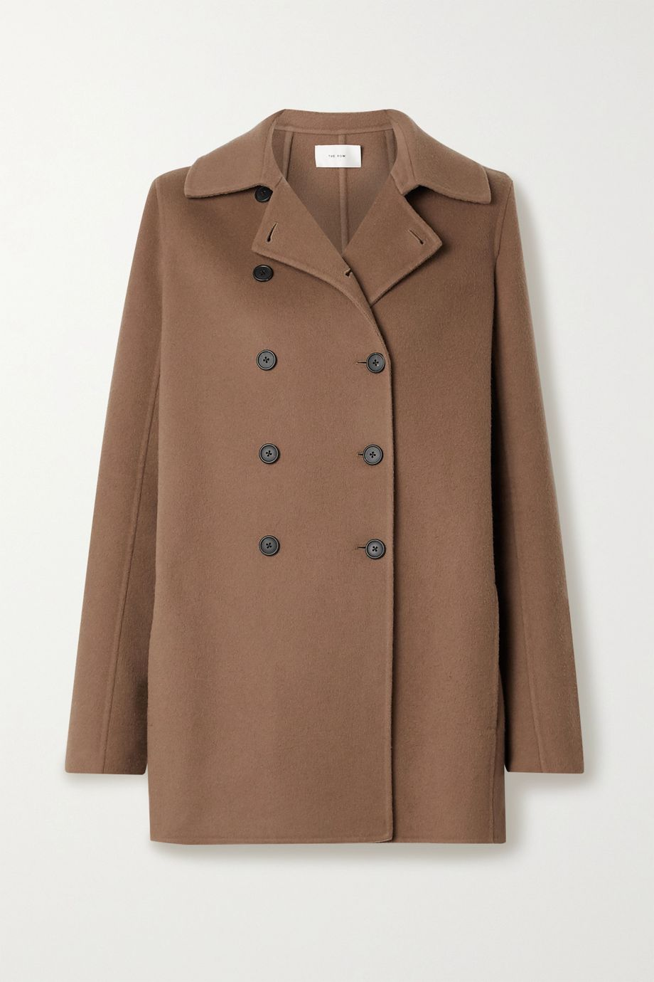 The Row Saku double-breasted cashmere coat