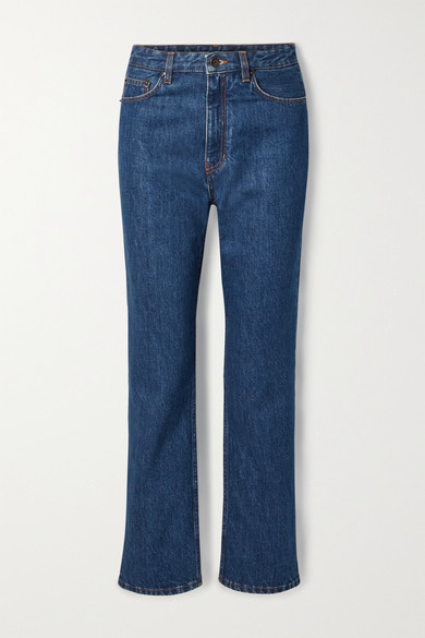 The Row - Christie High-rise Straight-leg Jeans - Mid denim