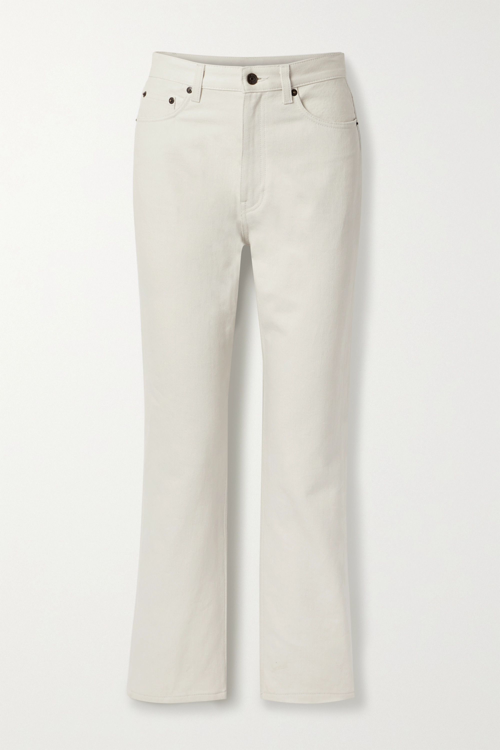 The Row - Christie high-rise straight-leg jeans