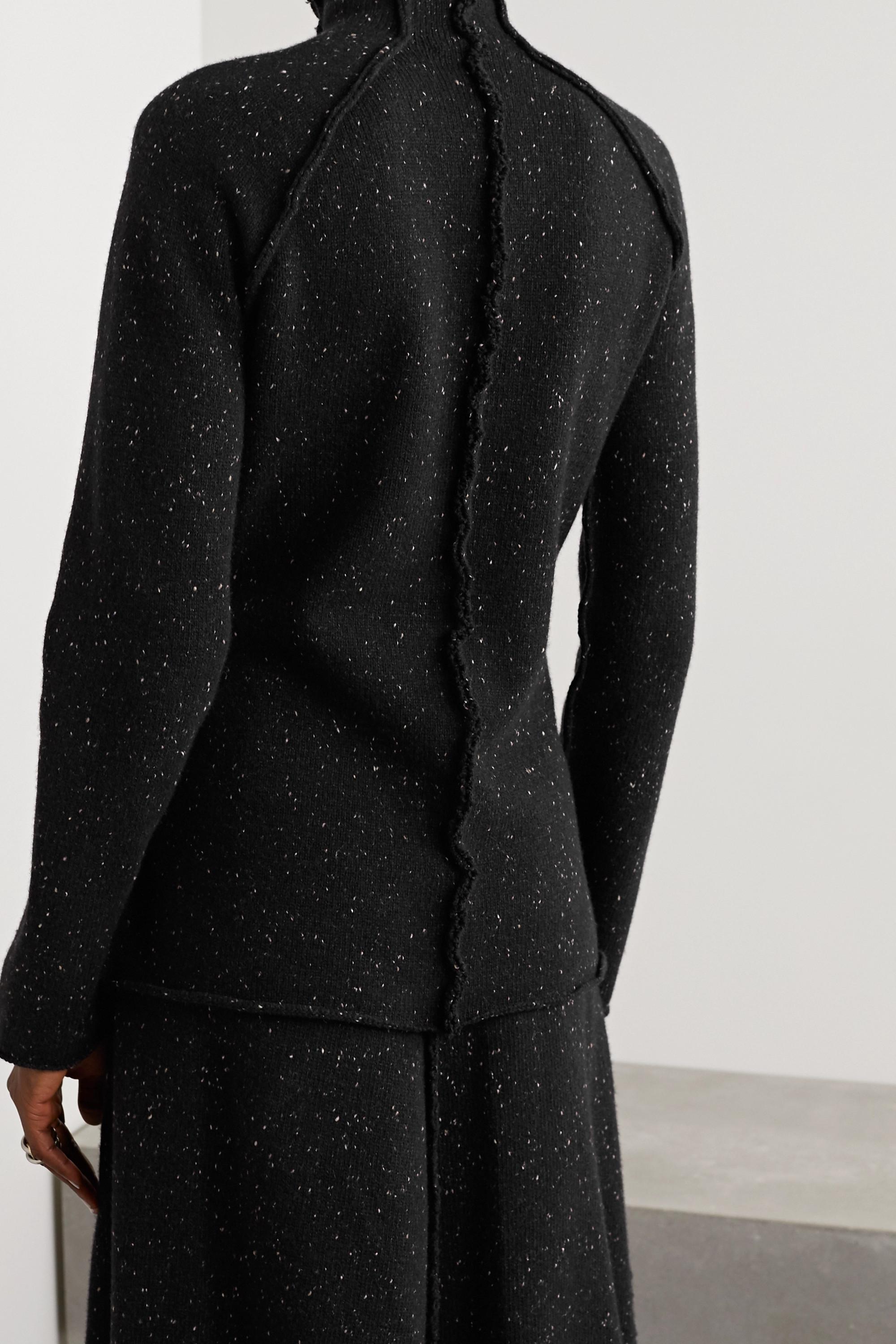 The Row Adamy mélange wool turtleneck sweater