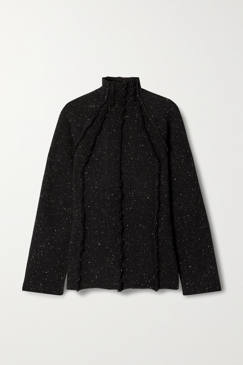 The Row Adamy Pullover aus melierter Wolle mit Stehkragen