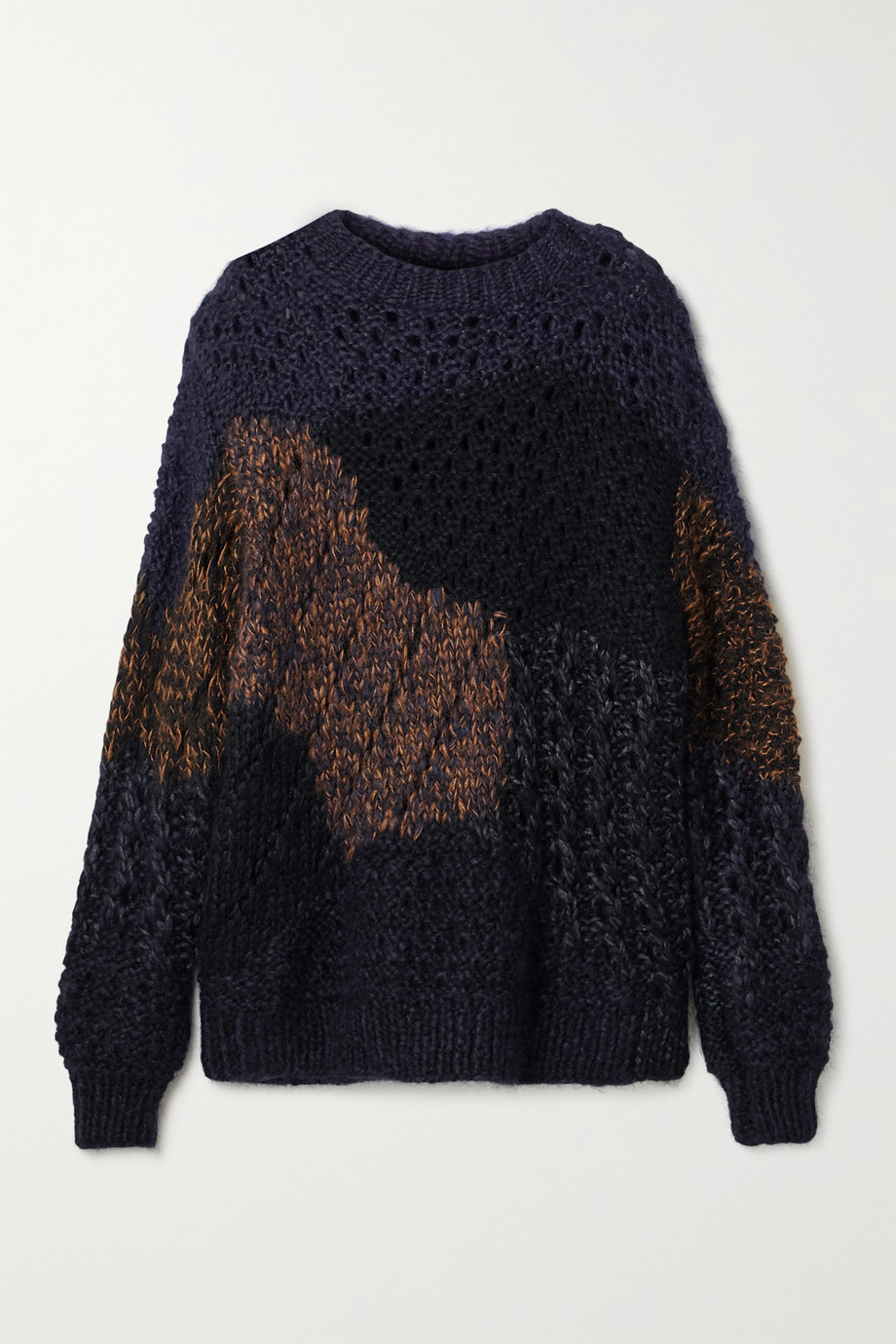 The Row Abboi oversized intarsia open-knit sweater