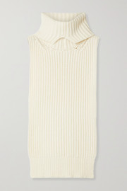 The Row Anneki ribbed cashmere turtleneck dickey