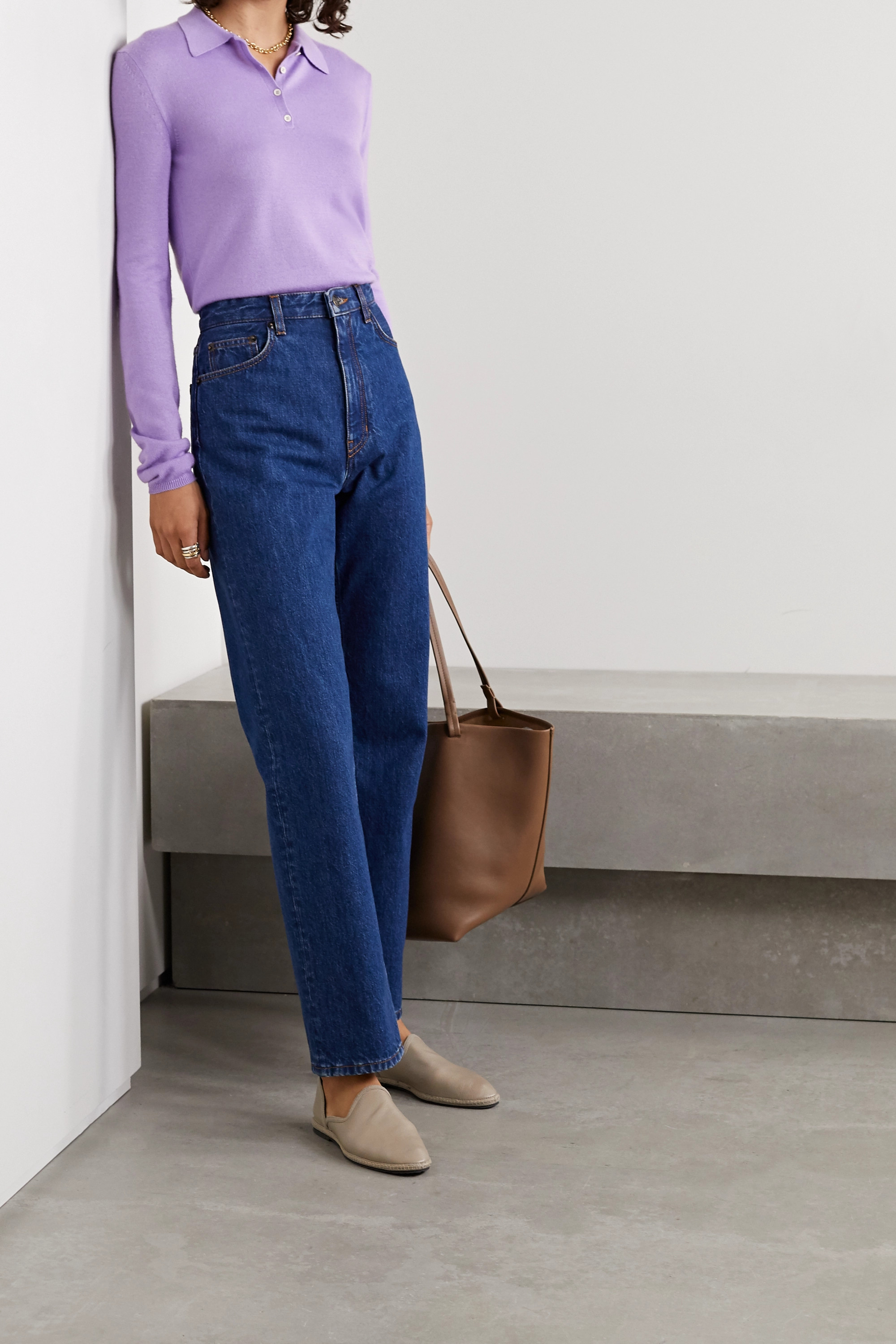 The Row Abanu cashmere and silk-blend sweater