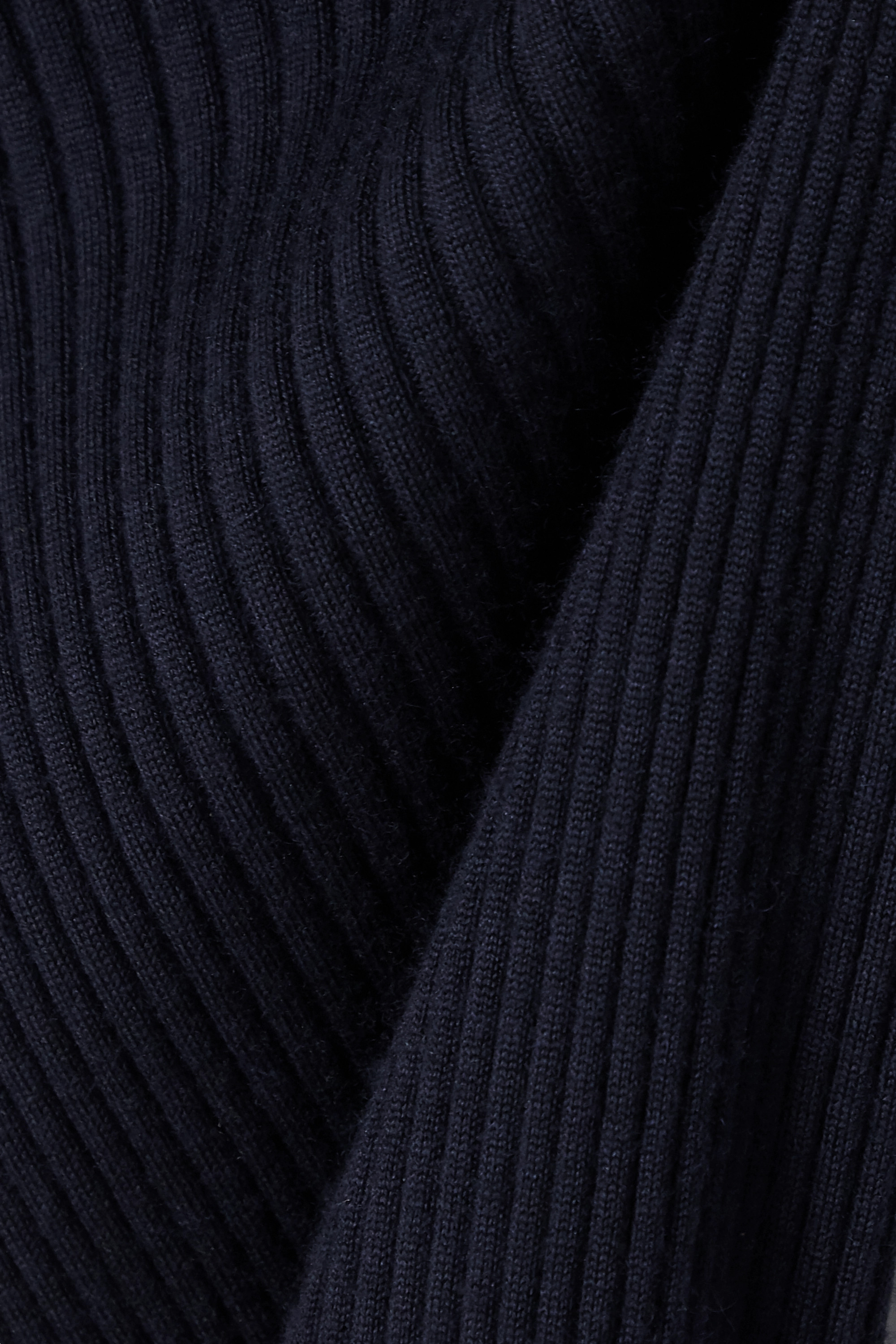 The Row Arzino ruffled ribbed cashmere and silk-blend turtleneck sweater