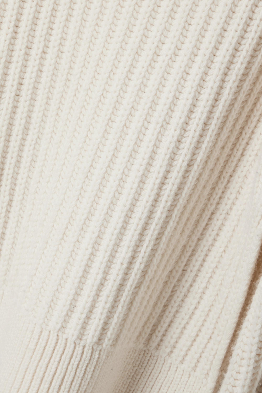 The Row Pull oversize à col roulé en laine côtelée Aneke