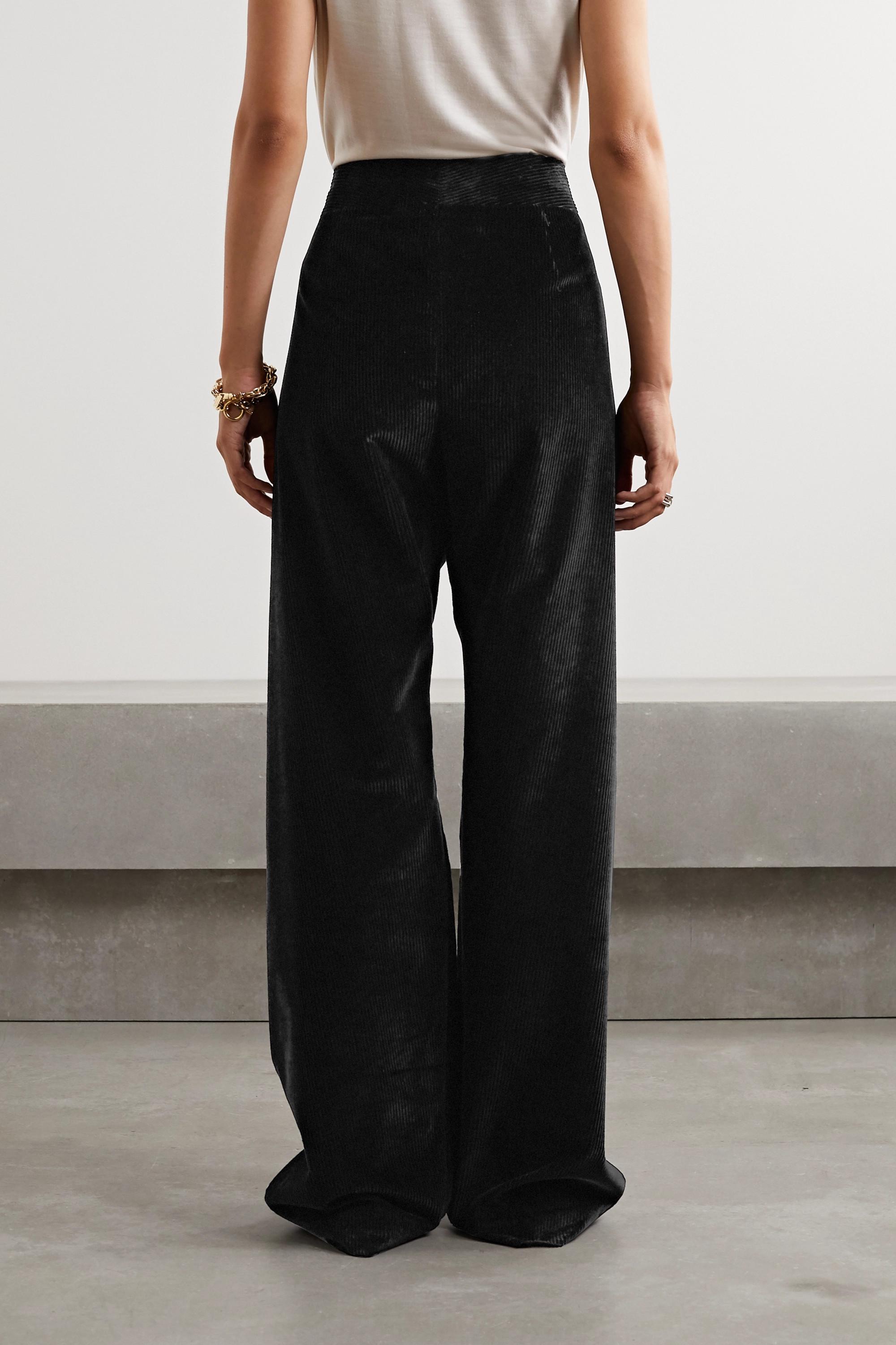The Row Caylan cotton-corduroy wide-leg pants