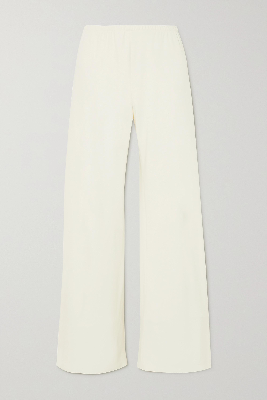 The Row Gala crepe wide-leg pants