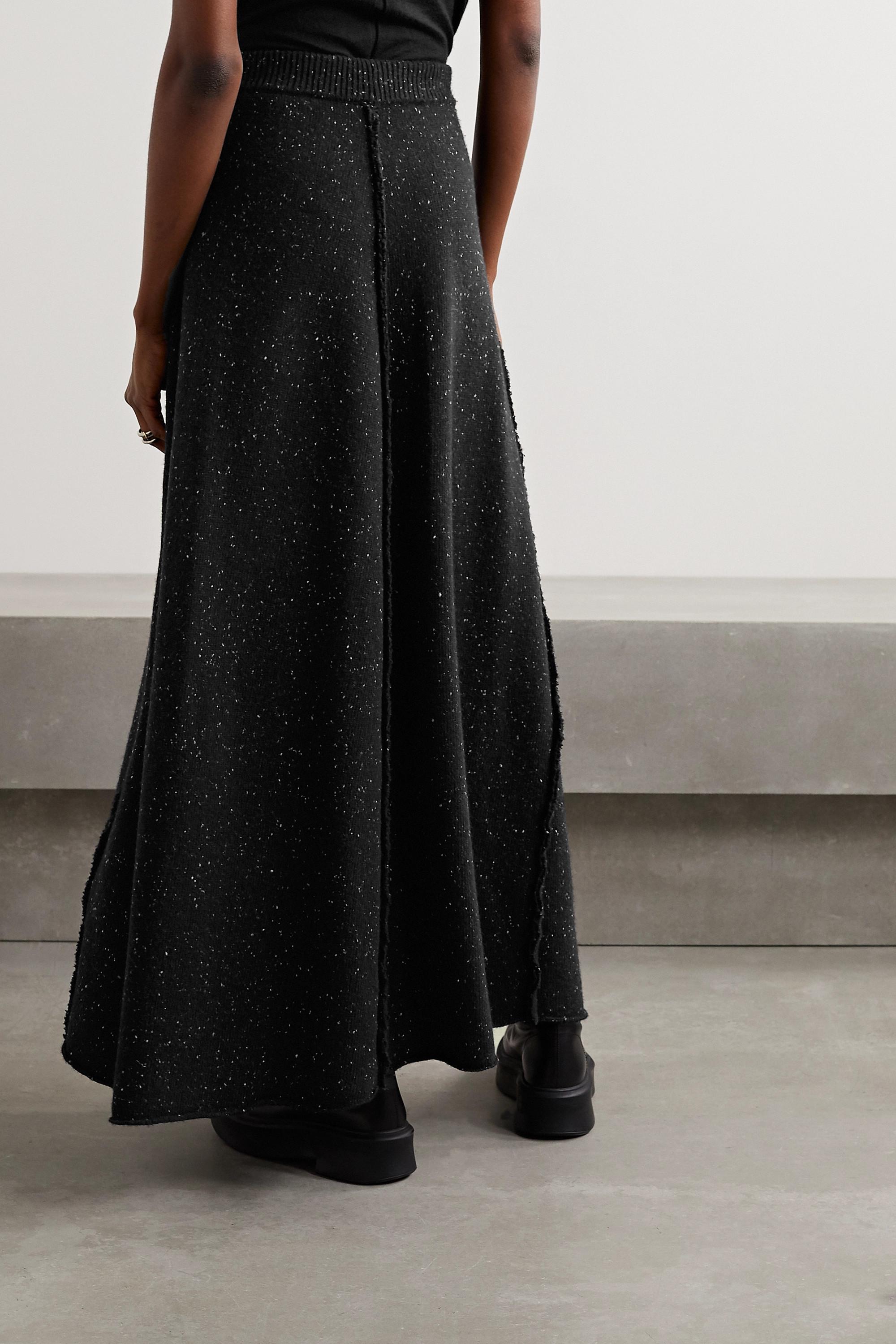 The Row Arlette mélange wool maxi skirt