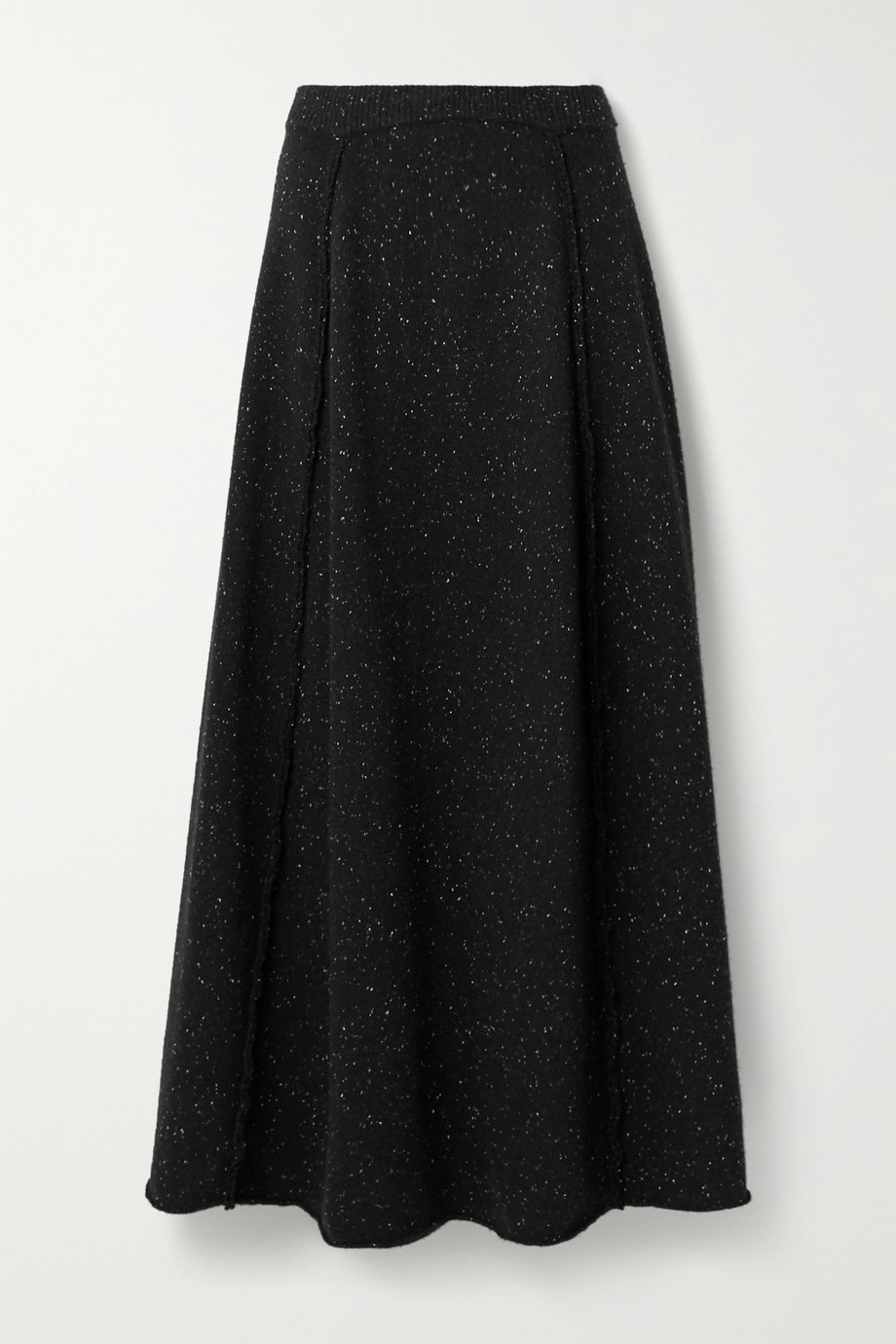 The Row Arlette mélange wool maxi skirt