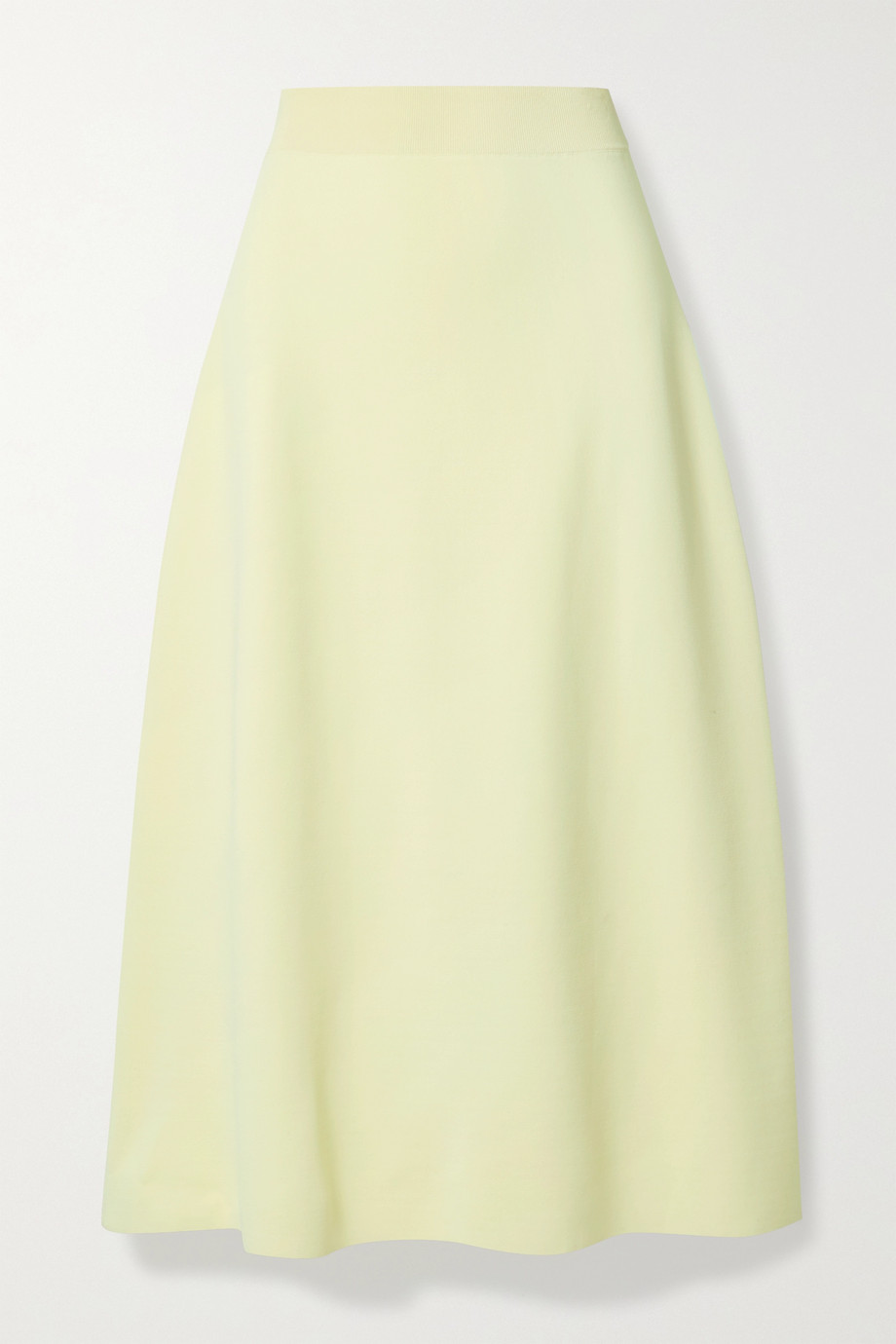 The Row Araceli ponte midi skirt