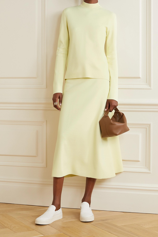 The Row Araceli ponte midi skirt