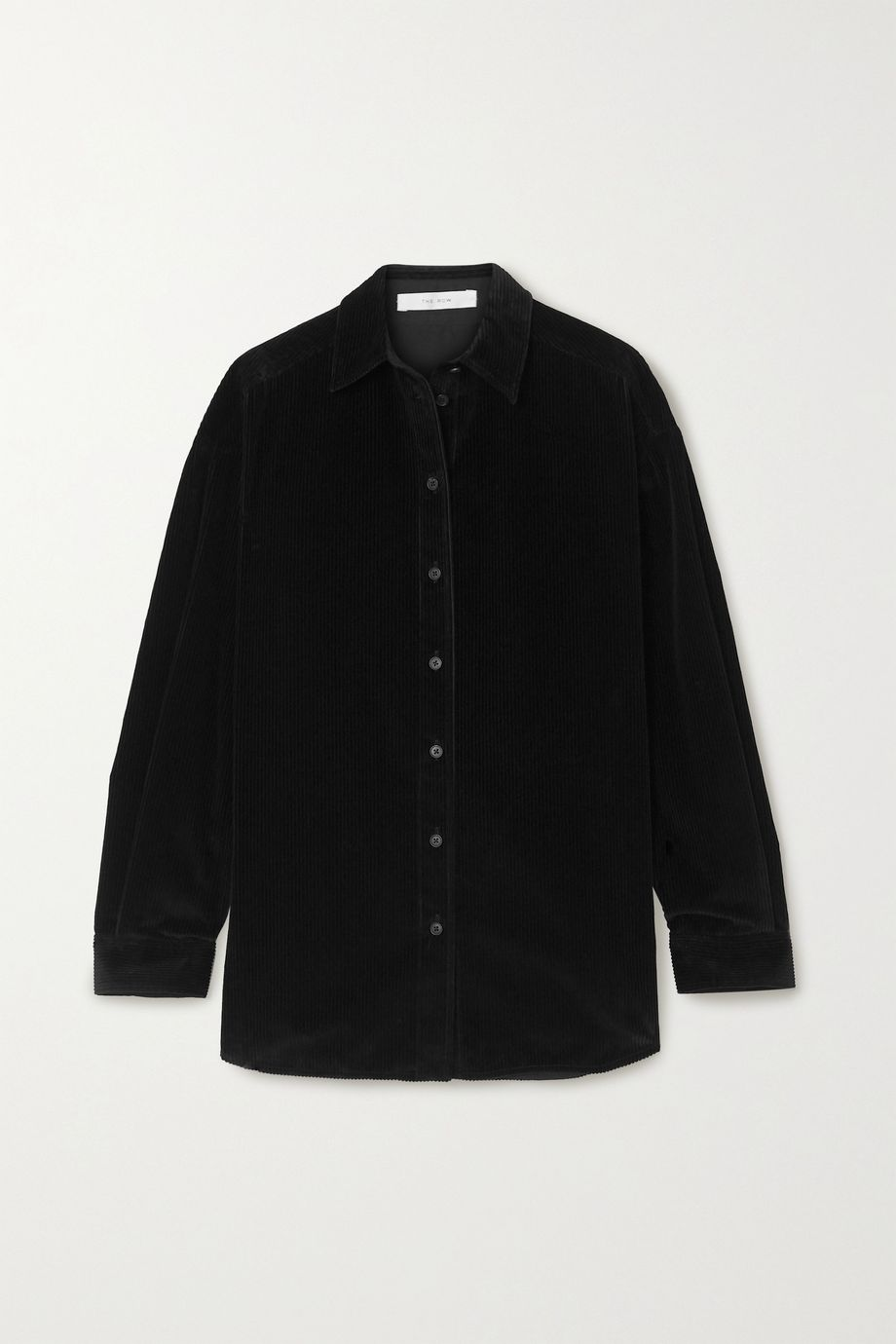 The Row Bette cotton-corduroy shirt