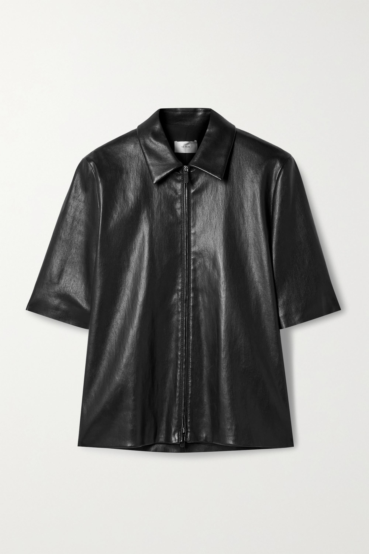 The Row Chloe leather shirt