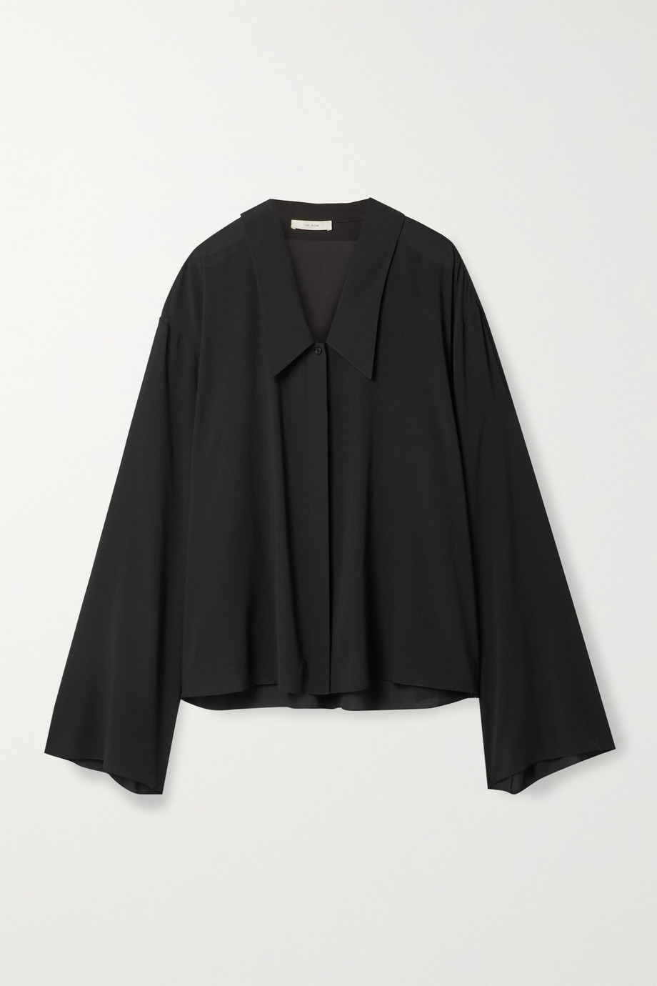 The Row Fabio oversized silk-blend georgette shirt