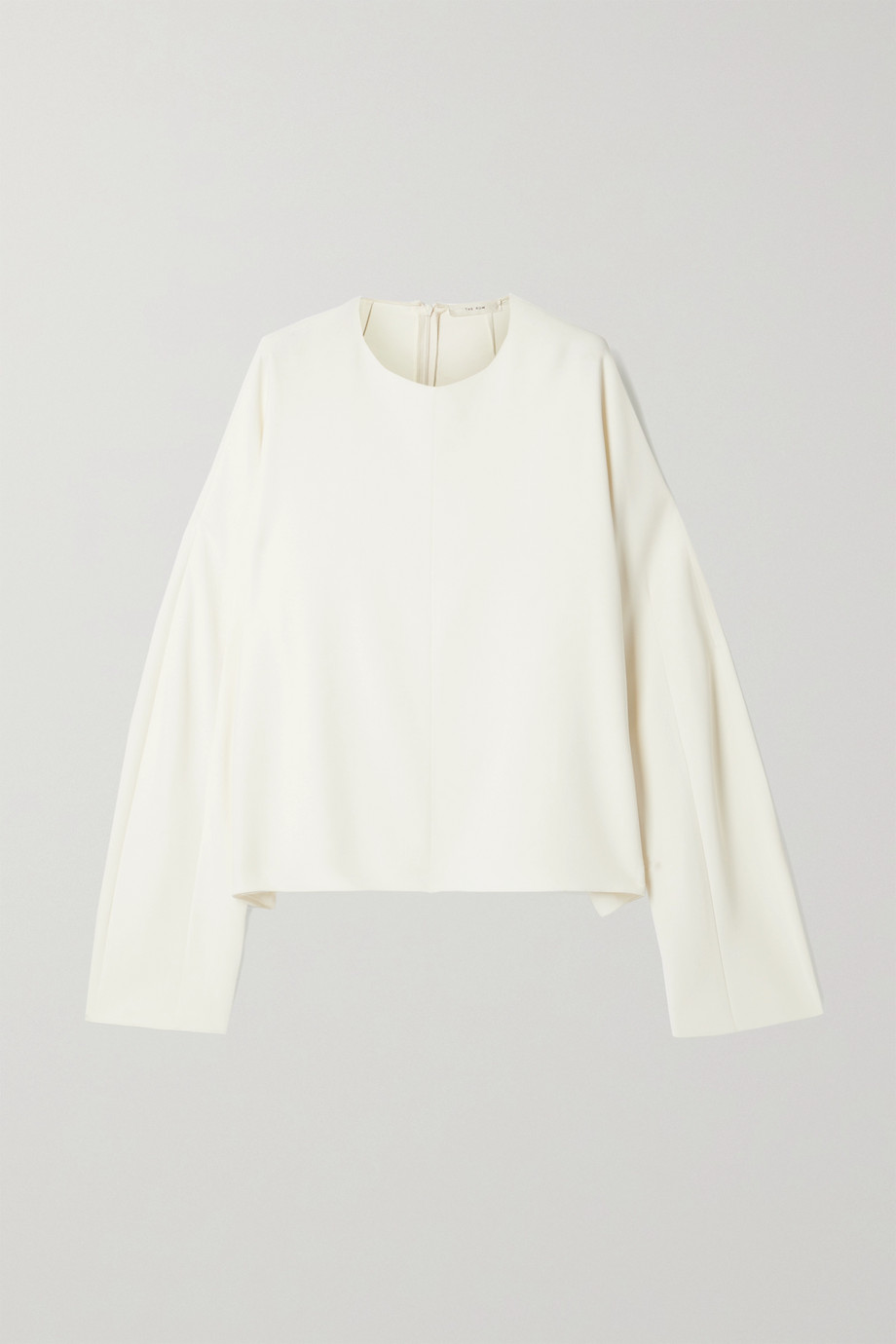 The Row Linda crepe top