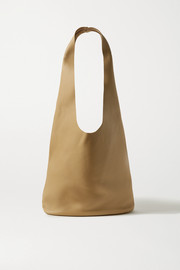 The Row Bucket Hobo textured-leather shoulder bag