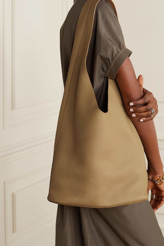 The Row Bucket Hobo textured-leather shoulder bag