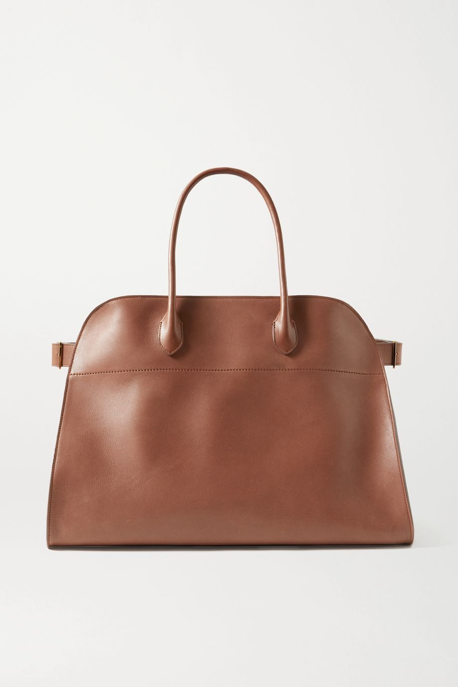 The Row Margaux 17 Air large buckled leather tote