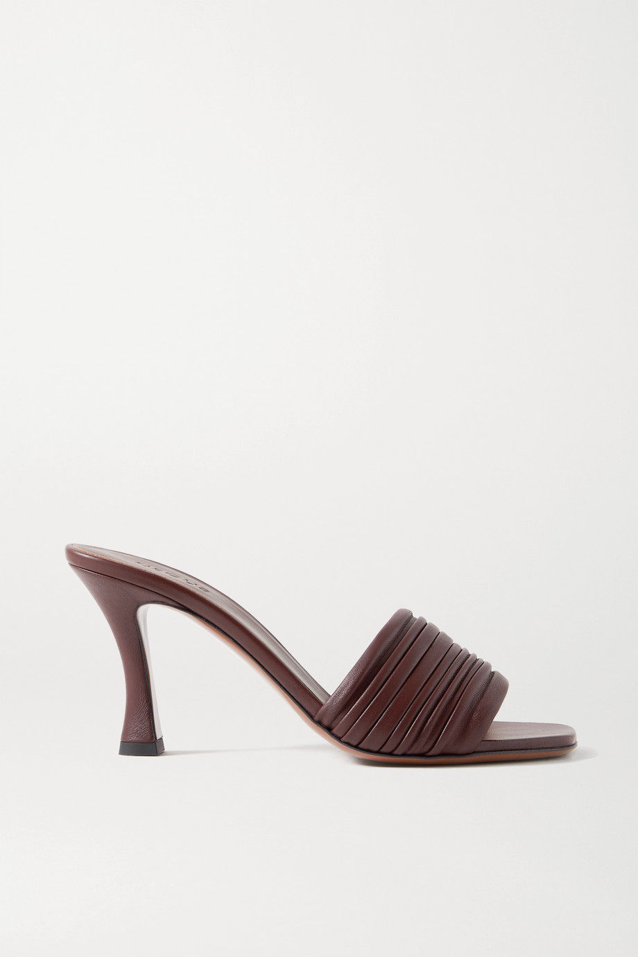 Neous Sham ruched leather mules
