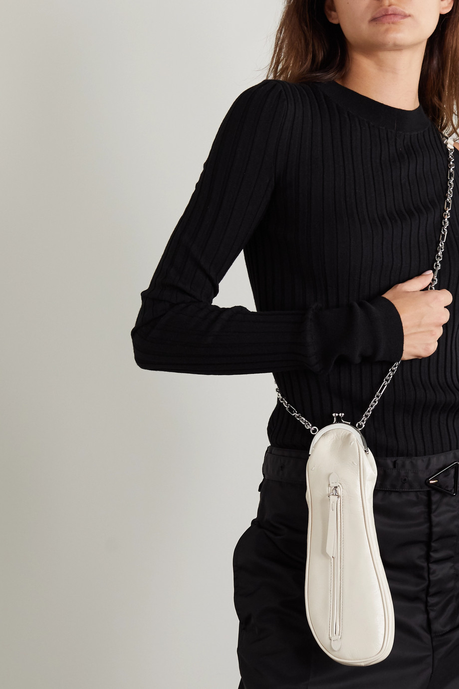 Maison Margiela Ballerina Tabi leather shoulder bag