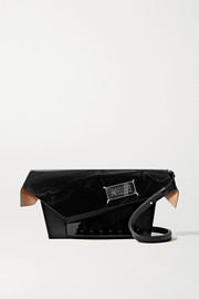Maison Margiela Snatched embellished patent-trimmed leather shoulder bag