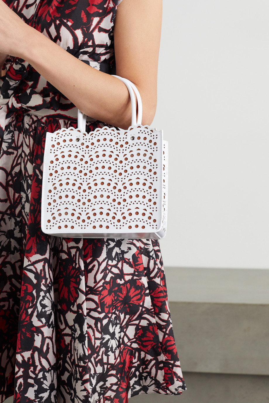 Alaïa Garance mini laser-cut leather tote