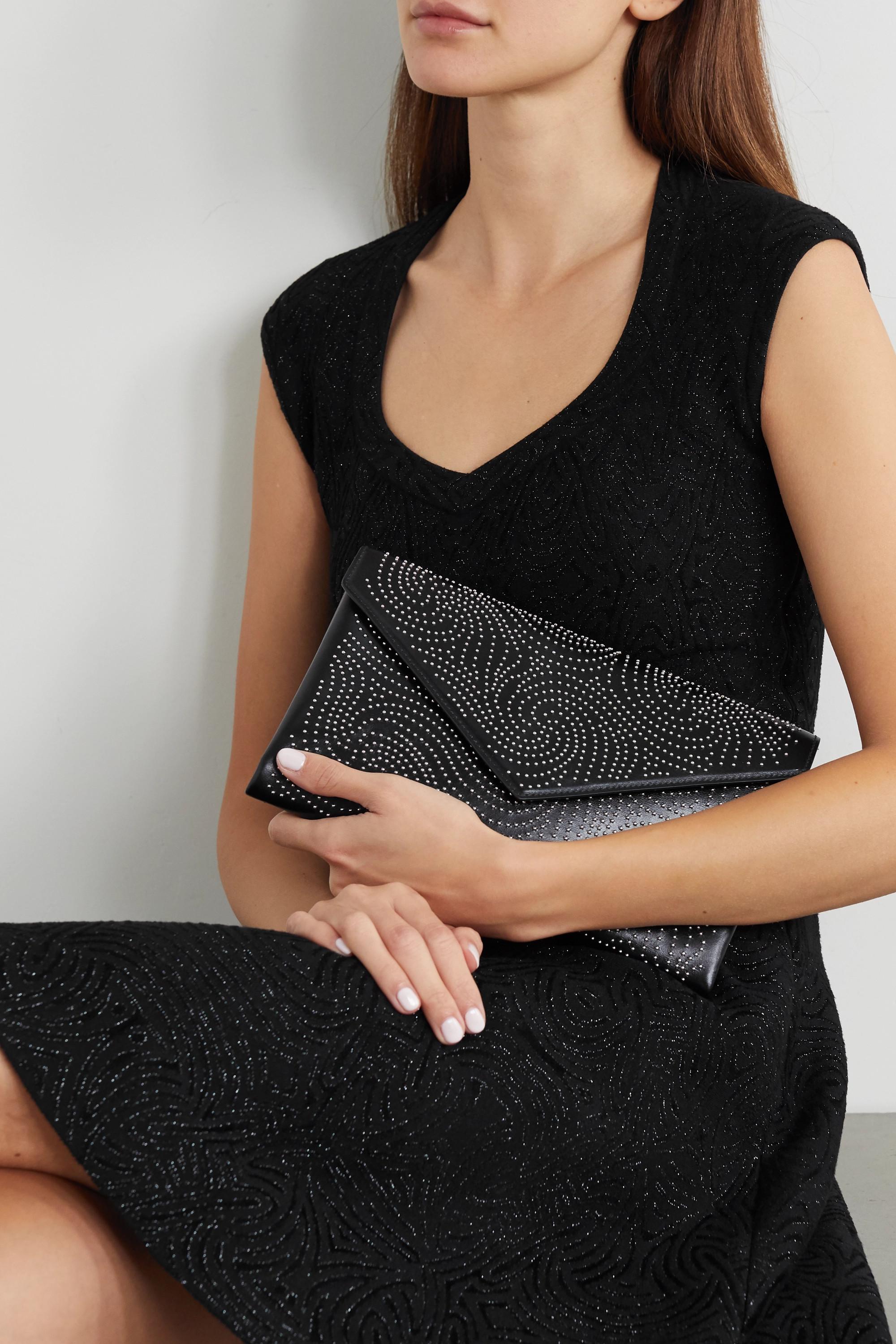 Alaïa Oum medium studded leather clutch