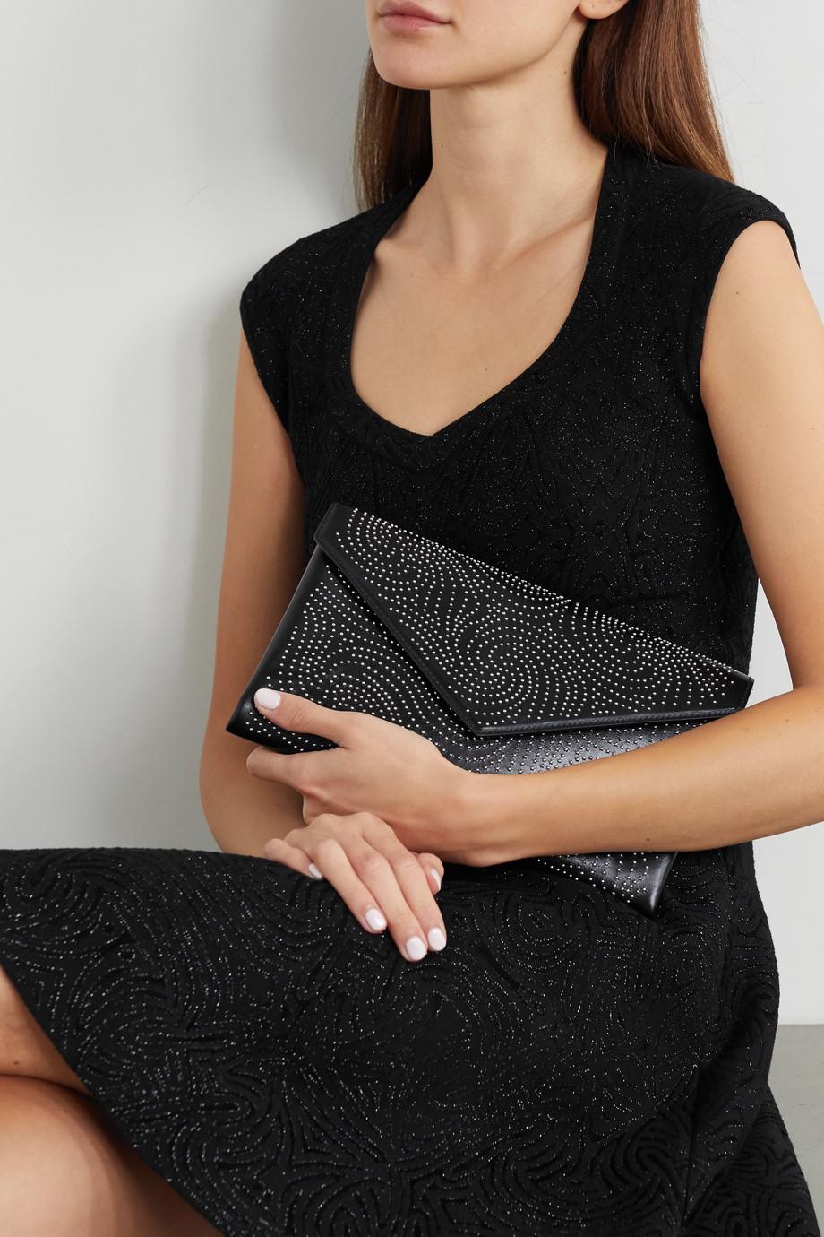 Alaïa Oum mittelgroße Clutch aus Leder mit Nieten