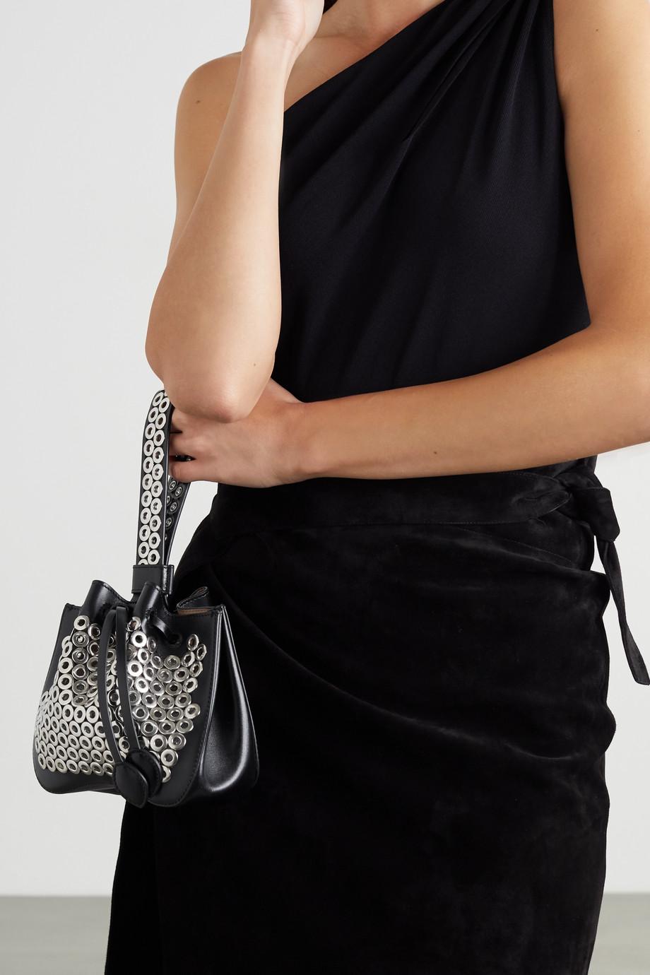 Alaïa Rose Marie mini eyelet-embellished leather bucket bag