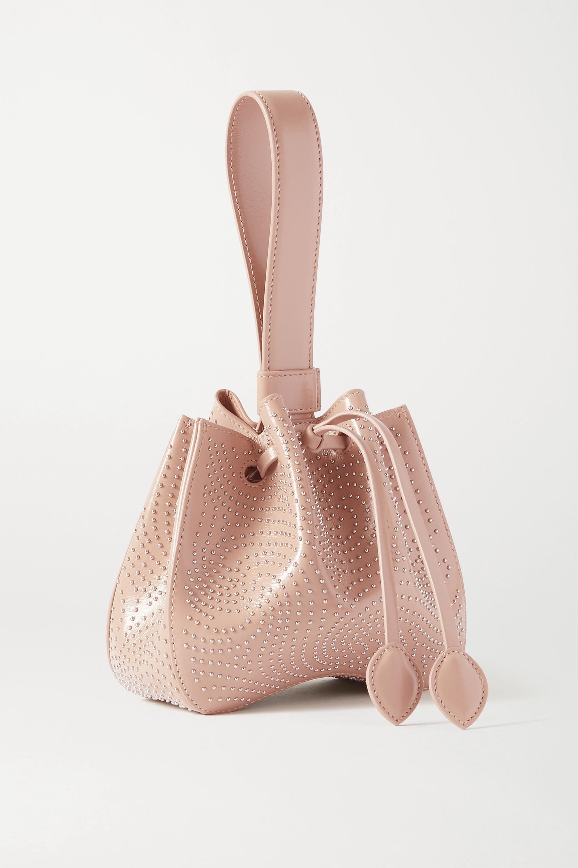 Alaïa Rose Marie kleine Beuteltasche aus Leder mit Nieten