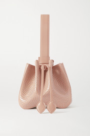 Alaïa Rose Marie small studded leather bucket bag