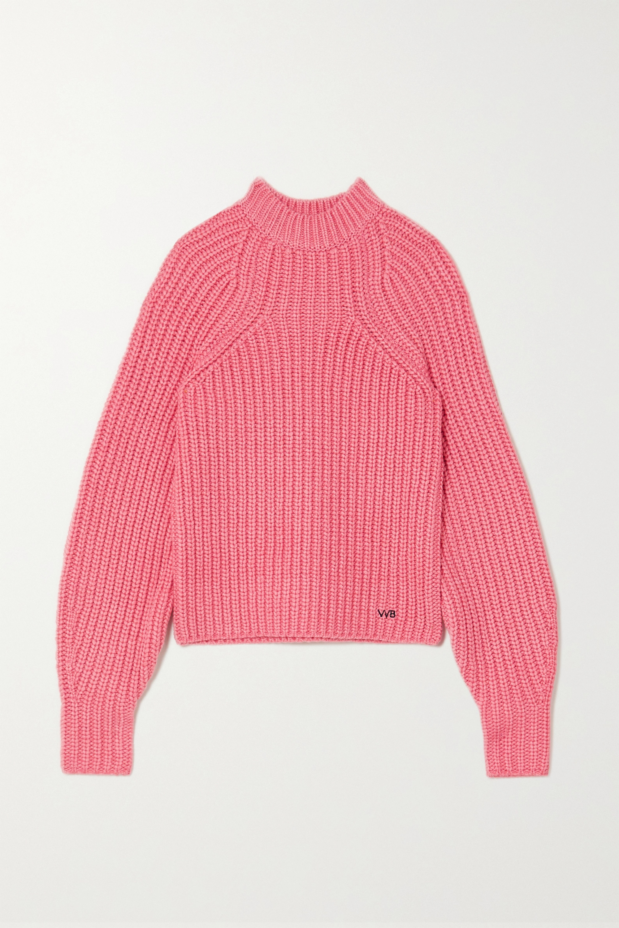 Chunky Ribbed Knit Pink