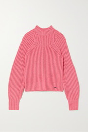 Victoria, Victoria Beckham Embroidered ribbed-knit sweater