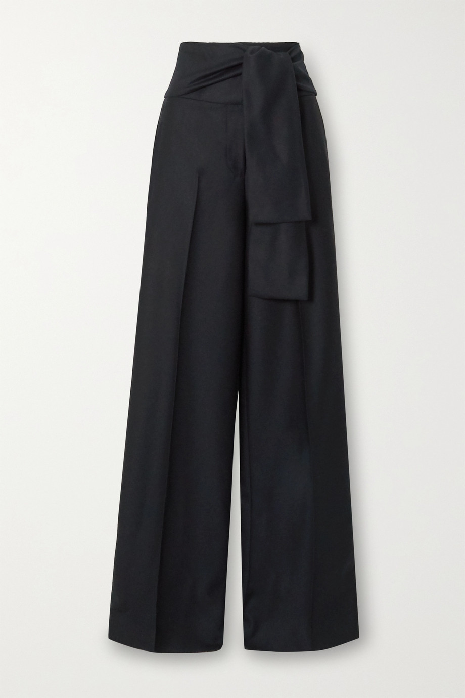 Victoria, Victoria Beckham Belted pleated wool-twill wide-leg pants