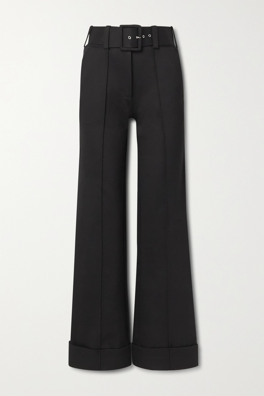 Victoria, Victoria Beckham Hose mit weitem Bein aus Jersey mit Gürtel