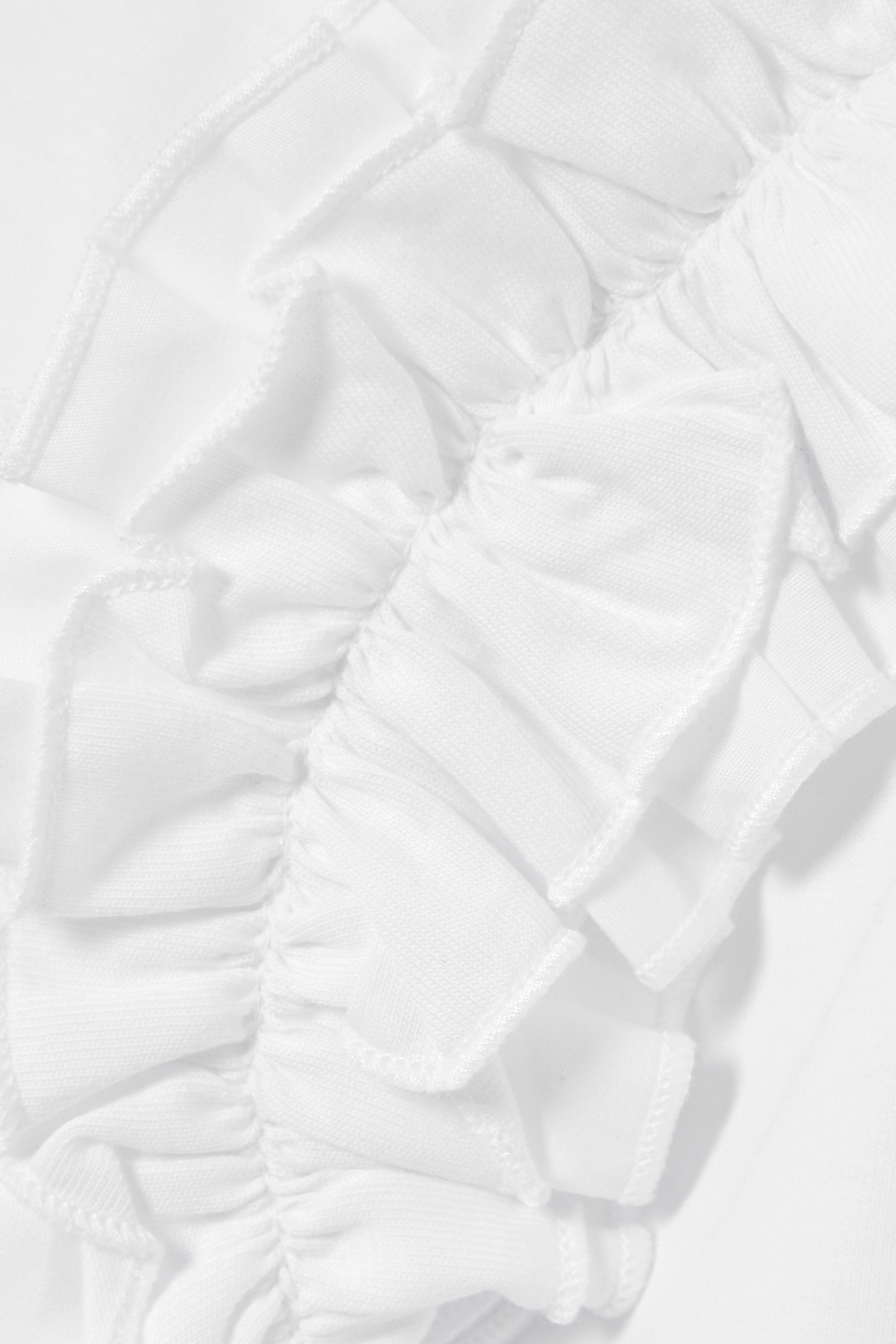 Victoria, Victoria Beckham Ruffle-trimmed cotton-jersey T-shirt