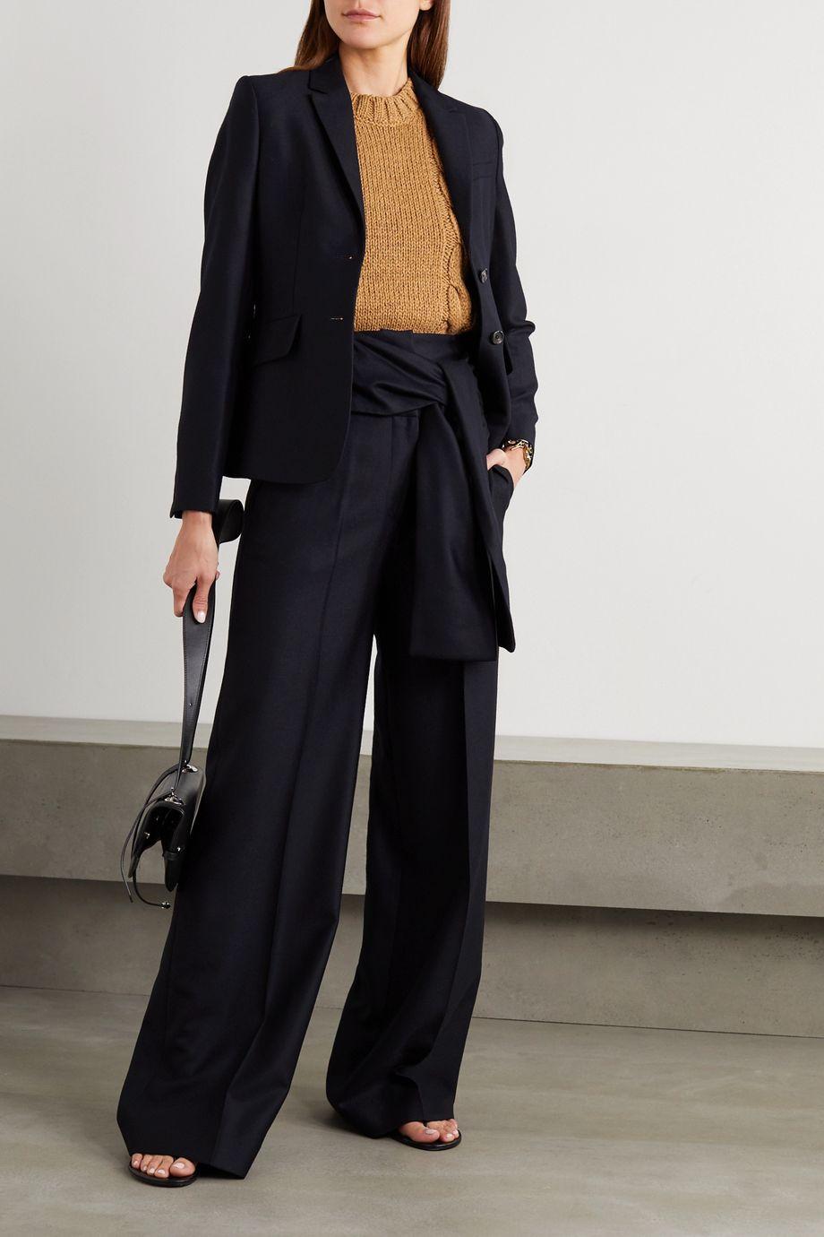 Victoria, Victoria Beckham Blazer en serge de laine