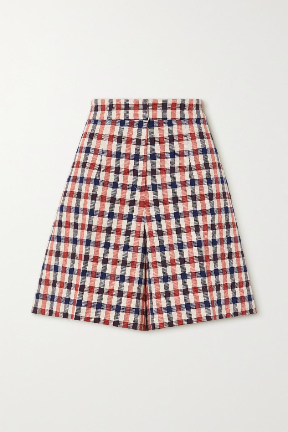 Victoria, Victoria Beckham Checked jacquard shorts